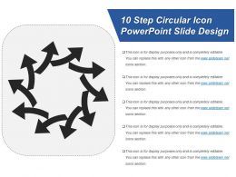 10 Step Circular Icon Powerpoint Slide Design