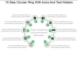10 Step Circular Ring With Icons And Text Holders