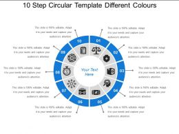 10 Step Circular Template Different Colours