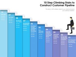 10 Step Climbing Stairs To Construct Customer Pipeline