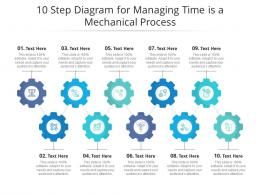 10 Step Diagram For Managing Time Is A Mechanical Process Infographic Template