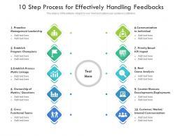 10 Step Process For Effectively Handling Feedbacks