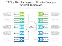 10 Step Slide For Employee Benefits Packages For Small Businesses Infographic Template