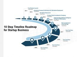 10 Step Timeline Roadmap For Startup Business