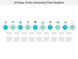 10 Steps Circles Horizontal Flow Graphics