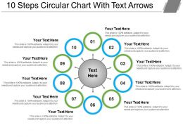 10 Steps Circular Chart With Text Arrows