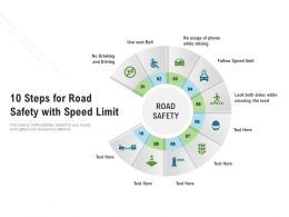 10 Steps For Road Safety With Speed Limit