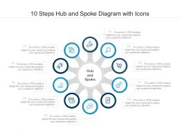 10 Steps Hub And Spoke Diagram With Icons