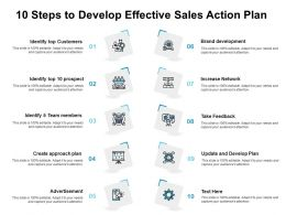 10 Steps To Develop Effective Sales Action Plan
