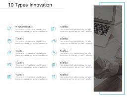 10 Types Innovation Ppt Powerpoint Presentation Icon Skills Cpb