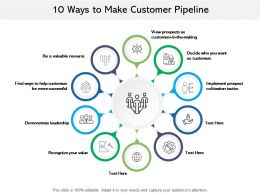 10 Ways To Make Customer Pipeline