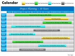 10 year planning Gantt Chart PowerPoint slides Gantt PPT templates