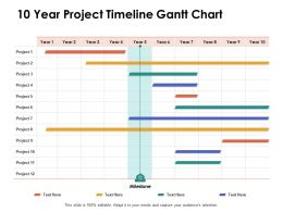 10 Year Project Timeline Gantt Chart Ppt Powerpoint Presentation Portfolio Design