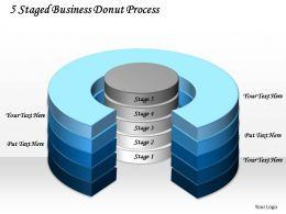 1103 Business Cycle Diagram 5 Staged Business Donut Process Sales Diagram