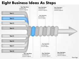 1103 Business Diagram Eight Business Ideas As Steps Strategic Management