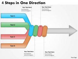 1103_business_framework_model_4_steps_in_one_direction_strategic_management_Slide01