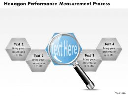1103 Business Framework Model Hexagon Performance Measurement Process Business Diagram