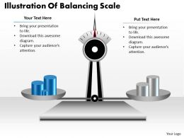 1103 Business Framework Model Illustration Of Balancing Scale Consulting Diagram