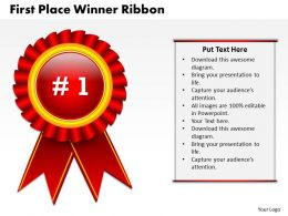 1103 Consulting Diagram First Place Winner Ribbon Business Diagram