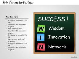 1103 Consulting Diagram Win Success In Business MBA Models And Frameworks