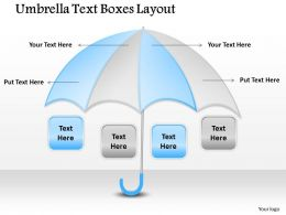 1103 Marketing Diagram Umbrella Text Boxes Layout Strategic Management