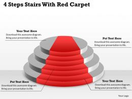1103 MBA Models And Frameworks 4 Steps Stairs With Red Carpet Business Diagram