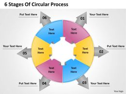 1103 Strategic Management 6 Stages Of Circular Process Business Diagram