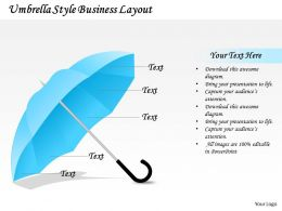 1103 Strategic Management Umbrella Style Business Layout Marketing Diagram