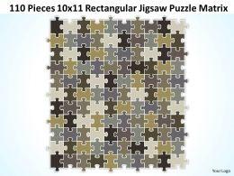 110 Pieces 10x11 Rectangular Jigsaw Puzzle Matrix Powerpoint templates 0812