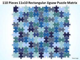 110 Pieces 11x10 Rectangular Jigsaw Puzzle Matrix Powerpoint templates 0812