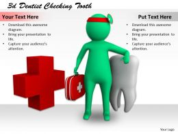 1113 3d Dentist Checking Tooth Ppt Graphics Icons Powerpoint