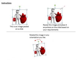1113 3D Doctor Checking Heart Ppt Graphics Icons Powerpoint