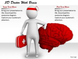 1113 3D Doctor With Brain Ppt Graphics Icons Powerpoint