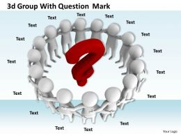1113 3d Group With Question Mark Ppt Graphics Icons Powerpoint
