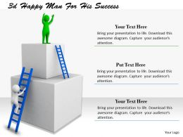 1113 3d Happy Man For His Success Ppt Graphics Icons Powerpoint