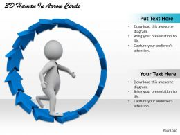 1113 3D Human In Arrow Circle Ppt Graphics Icons Powerpoint