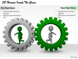 1113 3D Human Inside The Gears Ppt Graphics Icons Powerpoint