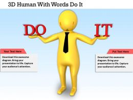 1113 3D Human With Words Do It Ppt Graphics Icons Powerpoint