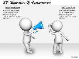 1113 3D Illustration Of Announcement Ppt Graphics Icons Powerpoint