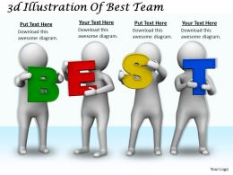 1113 3d Illustration Of Best Team Ppt Graphics Icons Powerpoint