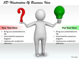 1113 3D Illustration Of Business Idea Ppt Graphics Icons Powerpoint