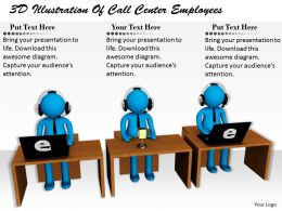 1113 3D Illustration Of Call Center Employees Ppt Graphics Icons Powerpoint