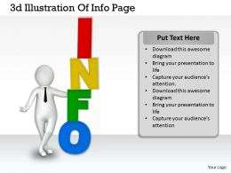 1113 3d Illustration Of Info Page Ppt Graphics Icons Powerpoint