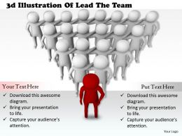 1113 3d Illustration Of Lead The Team Ppt Graphics Icons Powerpoint