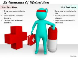 1113 3d Illustration Of Medical Care Ppt Graphics Icons Powerpoint
