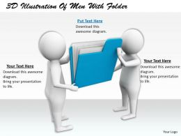 1113 3D Illustration Of Men With Folder Ppt Graphics Icons Powerpoint