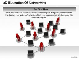 1113 3D Illustration Of Networking Ppt Graphics Icons Powerpoint