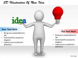 1113 3D Illustration Of New Idea Ppt Graphics Icons Powerpoint