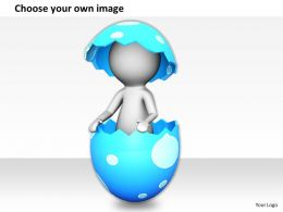 1113 3D Illustration Of New Life In Egg Ppt Graphics Icons Powerpoint