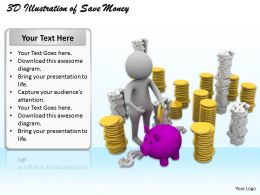 1113 3D Illustration Of Save Money Ppt Graphics Icons Powerpoint